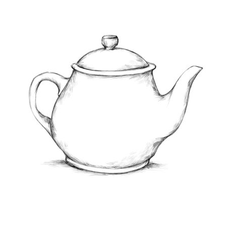 Illustration of a simple teapot with lid