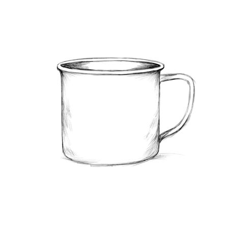 Illustration of a Simple enamel mug