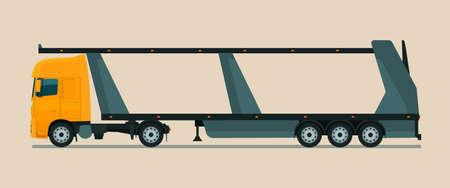 Empty car carrier. Vector illustration. Vektorové ilustrace
