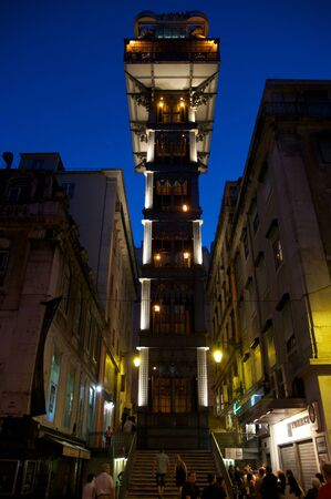 elevador: Elevador de Santa Justa in Lisbon