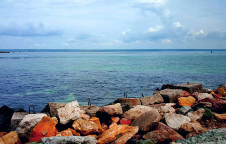 Stones are incredibly beautiful seascape Stock Photo