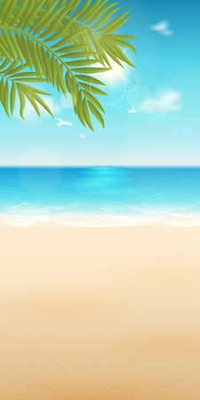 Vector summer background with place for text for design banner. With blur effect. All elements are separated and easily to move. File contains clipping mask. Illustration