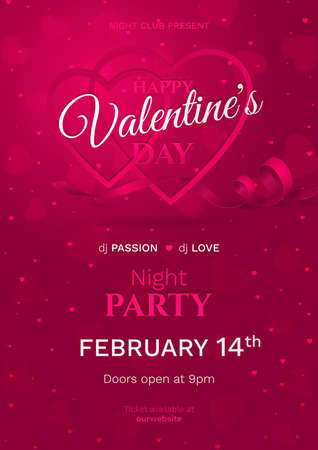 Vector template for poster of night party for