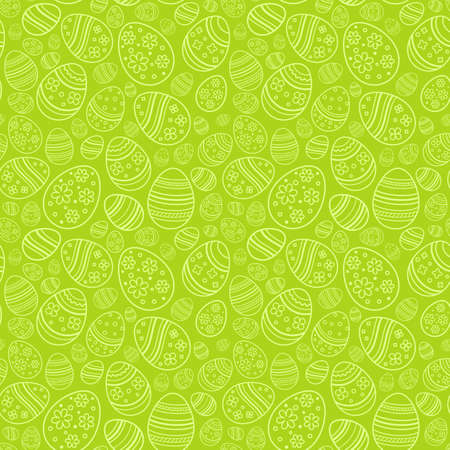 Vector seamless simple pattern with ornamental eggs.