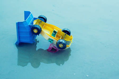 Broken toy truck 写真素材