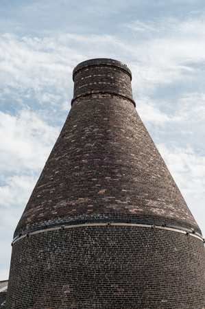 A bottle kiln in the Potteries region of the United Kingdom.