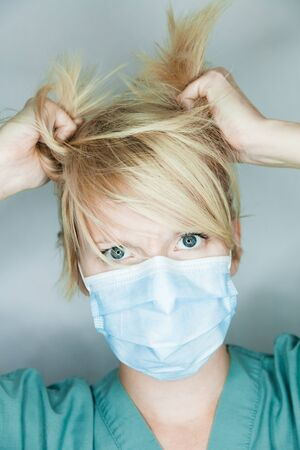 medecine: Crazy Nurse Pulling Hairs