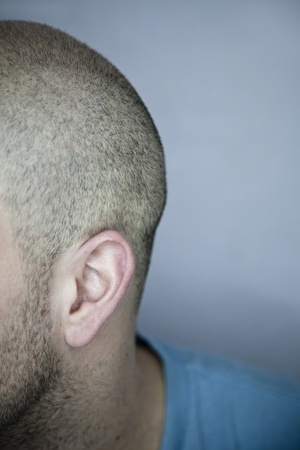 Back of a Shaved Head  ear detail