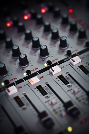 Here is one of the tools that a Dj uses to mix songs Stock Photo