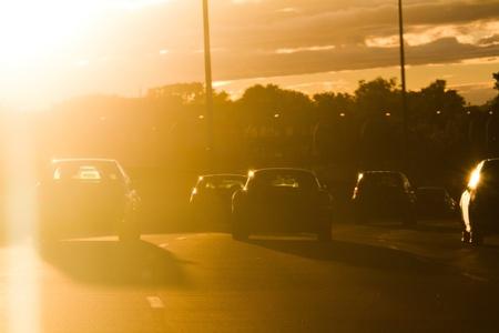 太陽光線のフロント ガラス - 危険を打つ !