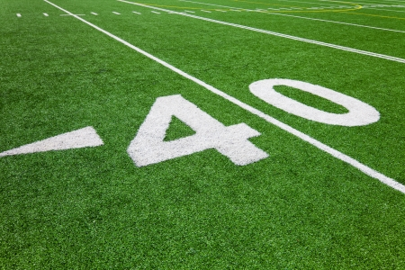 superbowl: forty yard line - football Stock Photo