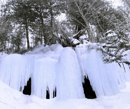 occur: This nice cave only occur during the winter  located in New Richmond, Gaspe, Quebec  Canada