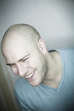 shaved head: Real Laughing