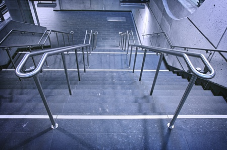 kink: This is an underground Montreal  public place  metro station staircase
