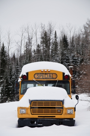 cancellation: Abandoned weird school bus