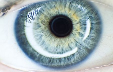 cornea: Girl Blue eye  very shallow  Stock Photo