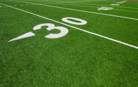 thirty yard line - football photo