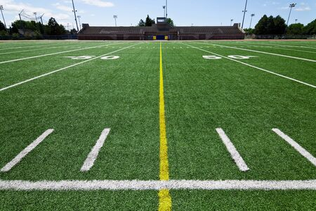 sideline: Football field  outdoor park