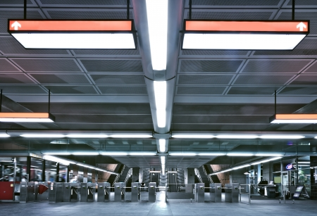 Metro entrance and gate - editorial