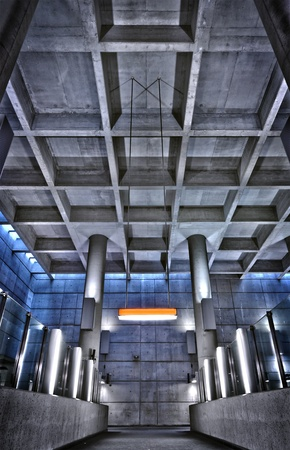 structure: HRD metro station ceiling structure - editorial