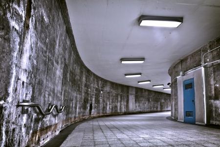 curve: HDR Underground Grunge metro corridor - editorial