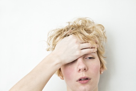 banging: Serious Problems - Headache Stock Photo