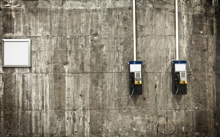 pay wall: Public phones