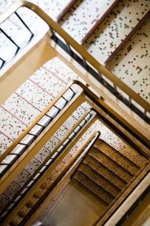 backstairs: Ingresso in un edificio Archivio Fotografico