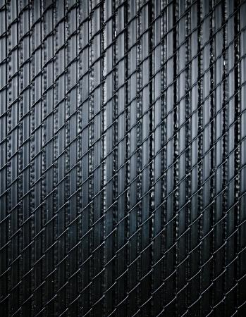fence: Black fence Stock Photo