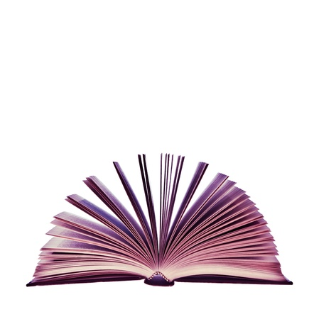 Weird pink book isolated on white background