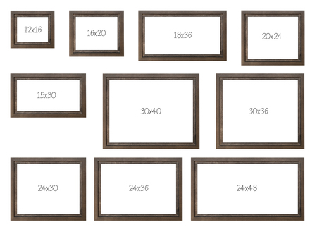 The Ten Most Popular Selling Frames Dimensions Of A Brown Modern