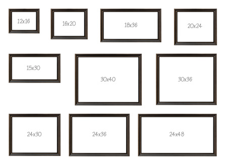 The Ten Most Popular Selling Frames Dimensions Of A Popular Brown