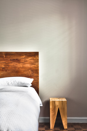 Beautiful Clean and Modern Bedroom with empty wall to add some text, logo, image, etc.