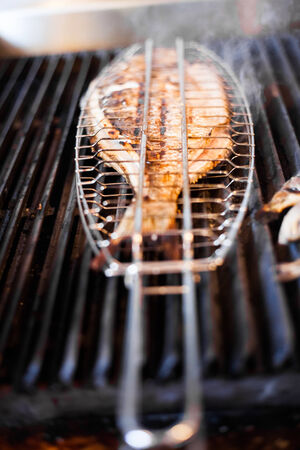 portugese: Fish on the grill in a Portugese Restaurant