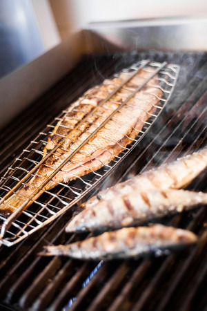 Fish on the grill in a Portugese Restaurant