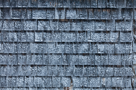 shingles: Cedar Shingles with Snow during a cold Winter Day
