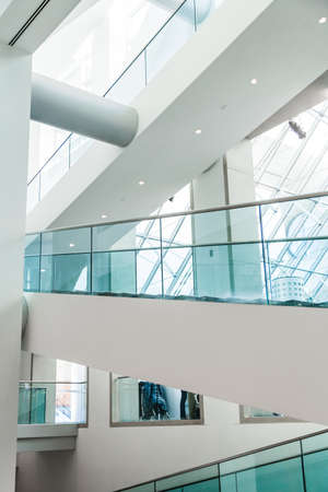 Editorial - Montreal, Canada. Fine Arts Museum Modern Staircase Set with Natural sun light.