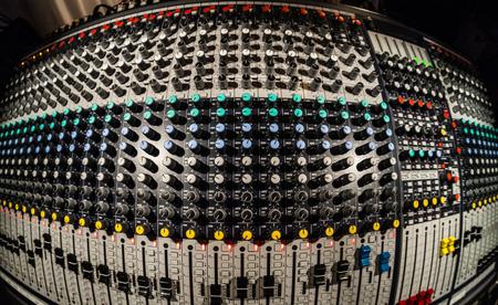 Mixing Board in a recording studio