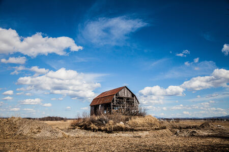 canada agriculture: Old Abandoned Rusty Old barn in the Middle of nowhere !