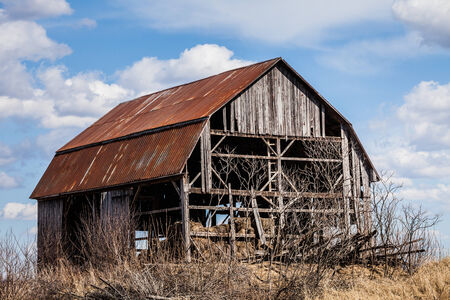 Old Abandoned Rusty Old barn in the Middle of nowhere ! photo