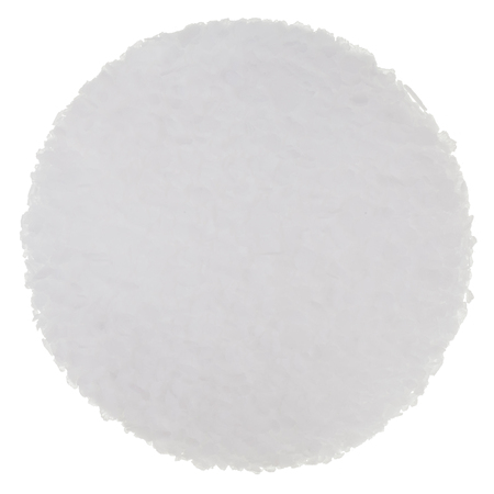 sel: Fleur de Sel (Sea Salt) Isolated on white background on a perfect Circle Stock Photo