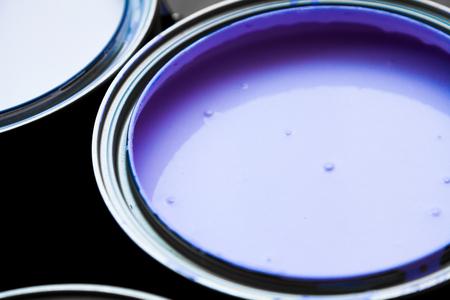 paintcan: Closeup of an open Full Purple Paintcan
