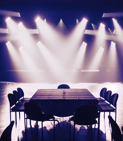 light show: Big Light Setup Ready for a Big Private Show Stock Photo