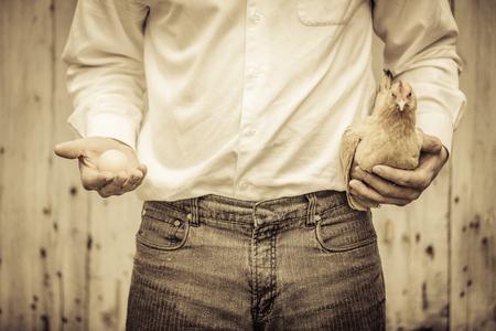 Paradoks: Paradoks kurczaka i jaj przez rolnika Poradnik Zdjęcie Seryjne