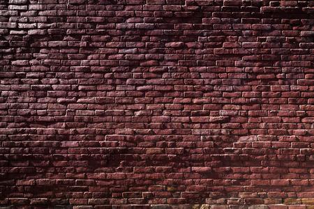 Vieux mur de briques rouges avec Sunlight et Ombres Banque d'images - 38554108