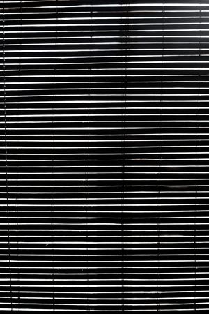 blinds: Horizontal Wooden Blinds Closed during the day Stock Photo