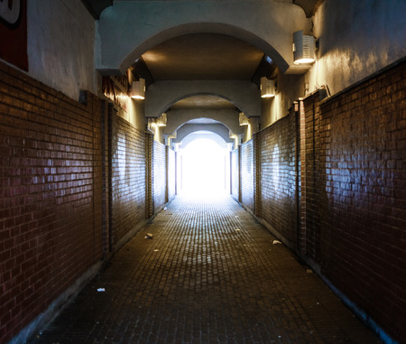 long way: Dark Alley with light at the end - Conceptual Image