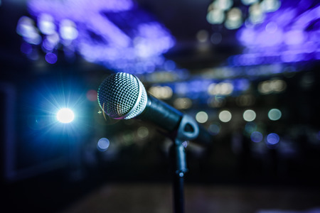 Microphone on a Stage With no People