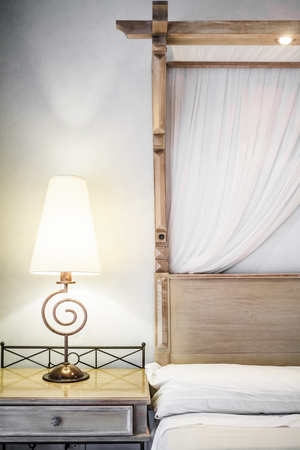 Closeup of a bed Ready for Tourists Stock Photo