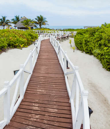 xxxl: XXXL Resolution Panorama - Beautiful Romantic Walkway to go to the Beach Stock Photo